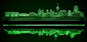 Leuchtende Wandtattoos leuchtende köln skyline led accessoires für koeln