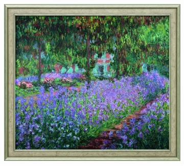 bild irisbeet in monets garten claude monet kunst. Black Bedroom Furniture Sets. Home Design Ideas