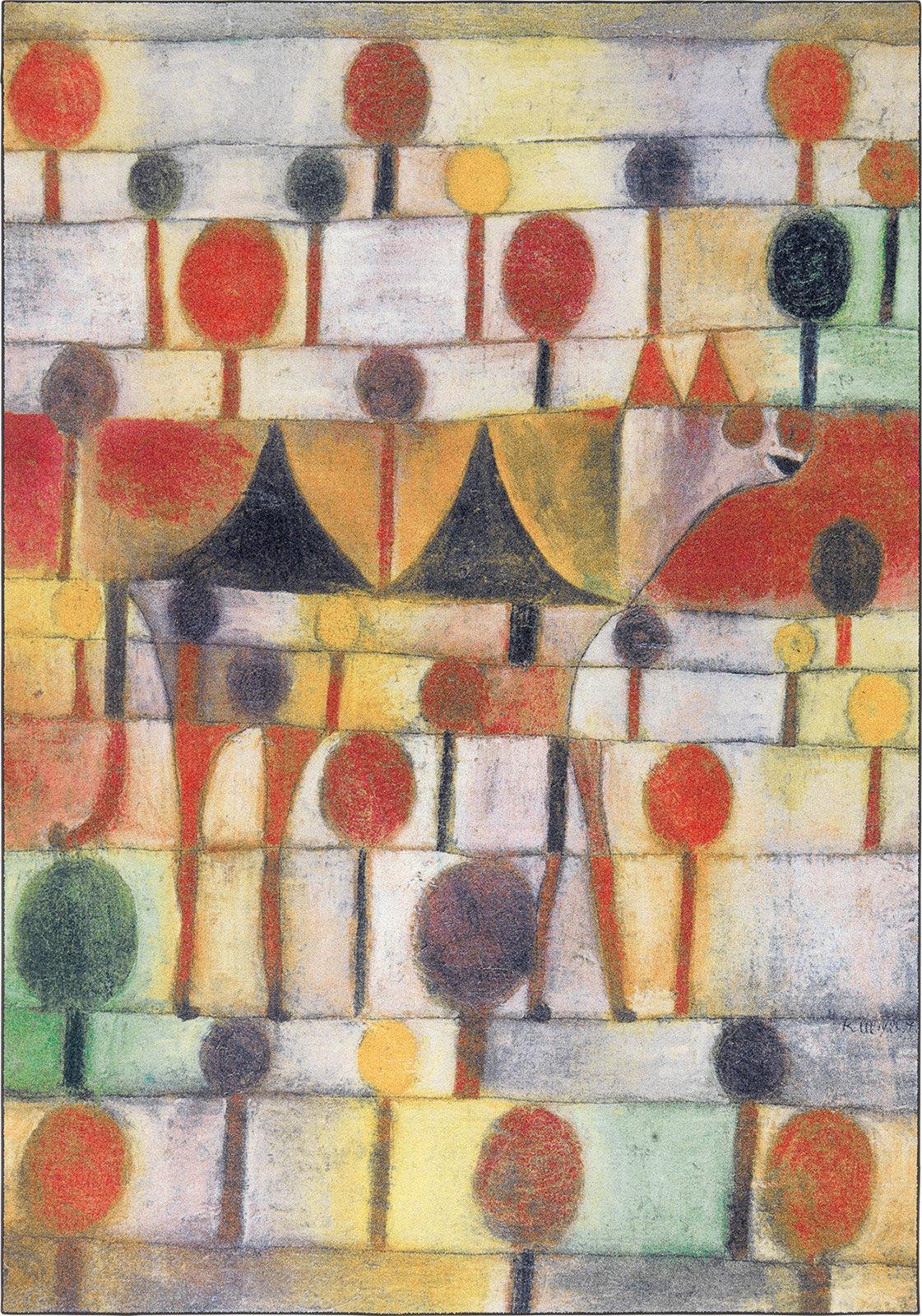Teppich Kamel in rhythmischer Baumlandschaft, Paul Klee