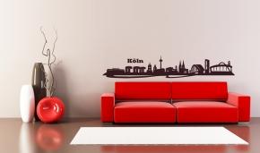 k lner skyline modern wandtattoo leben auf koelsch. Black Bedroom Furniture Sets. Home Design Ideas