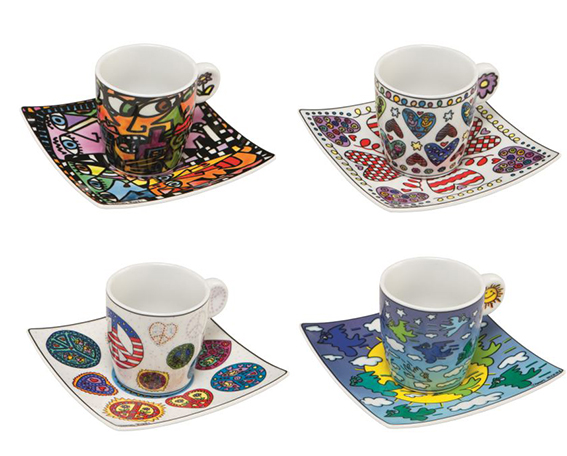 james rizzi espressotassen 4 teiliges set kunst. Black Bedroom Furniture Sets. Home Design Ideas